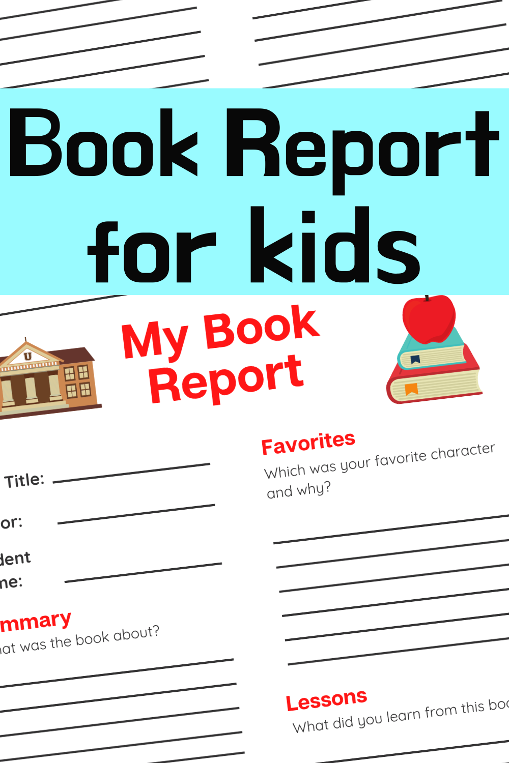 Book Report for Kids