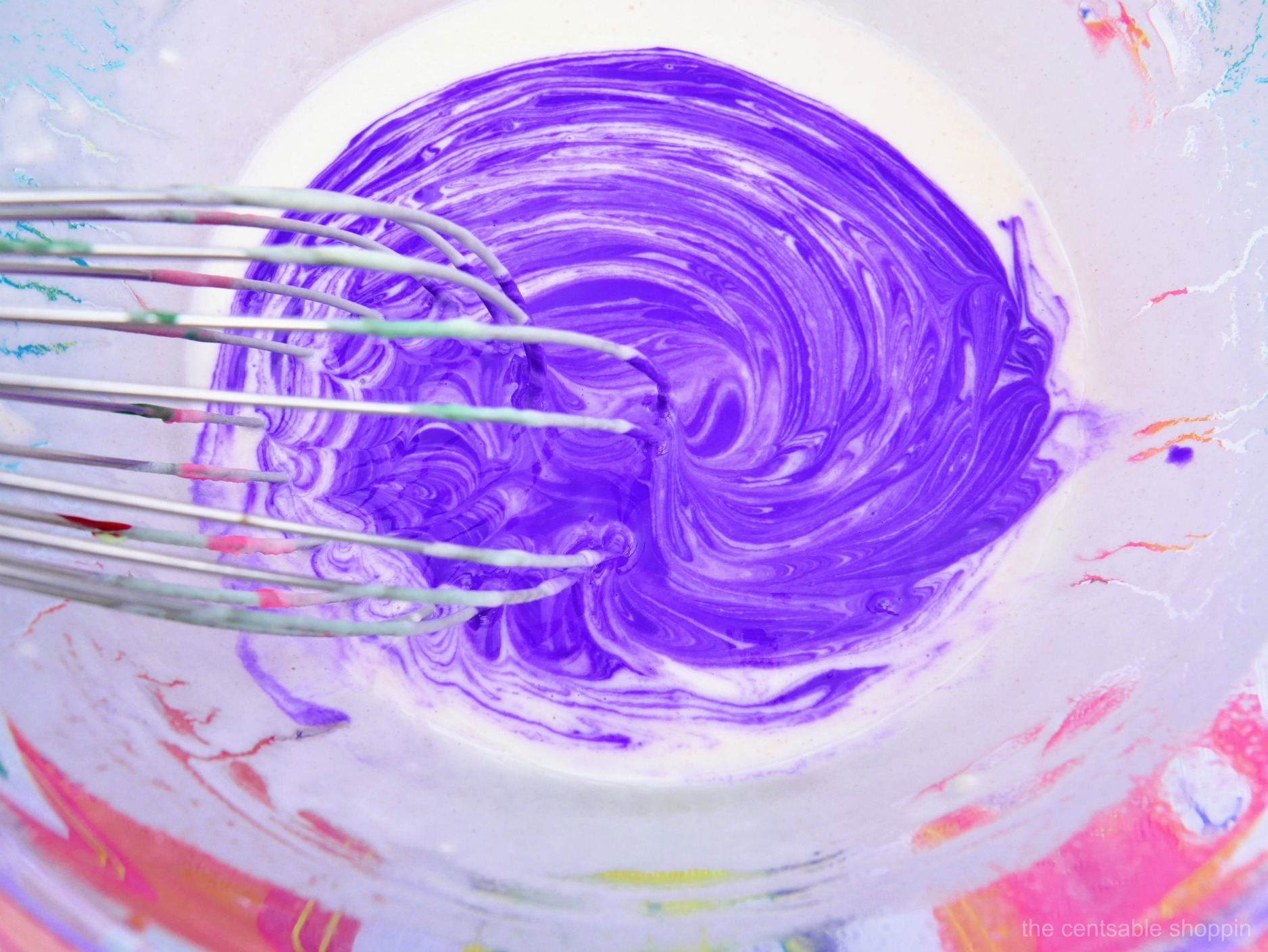DIY Outdoor Puffy Paint - Purple