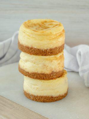 Mini Cheesecakes with Pumpkin Swirl