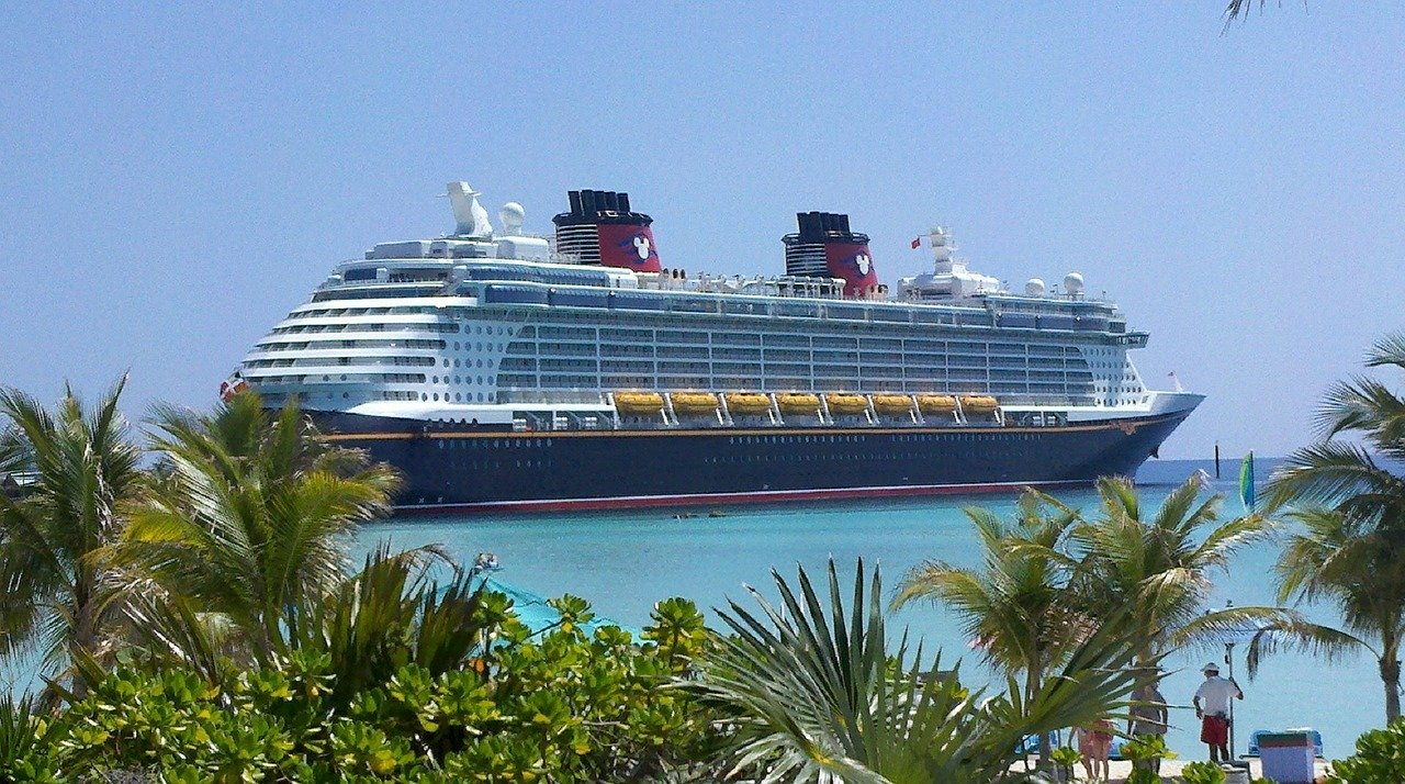 Disney Cruise Ship on a Private Island