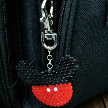 Perler Bead Mickey Mouse Keyring