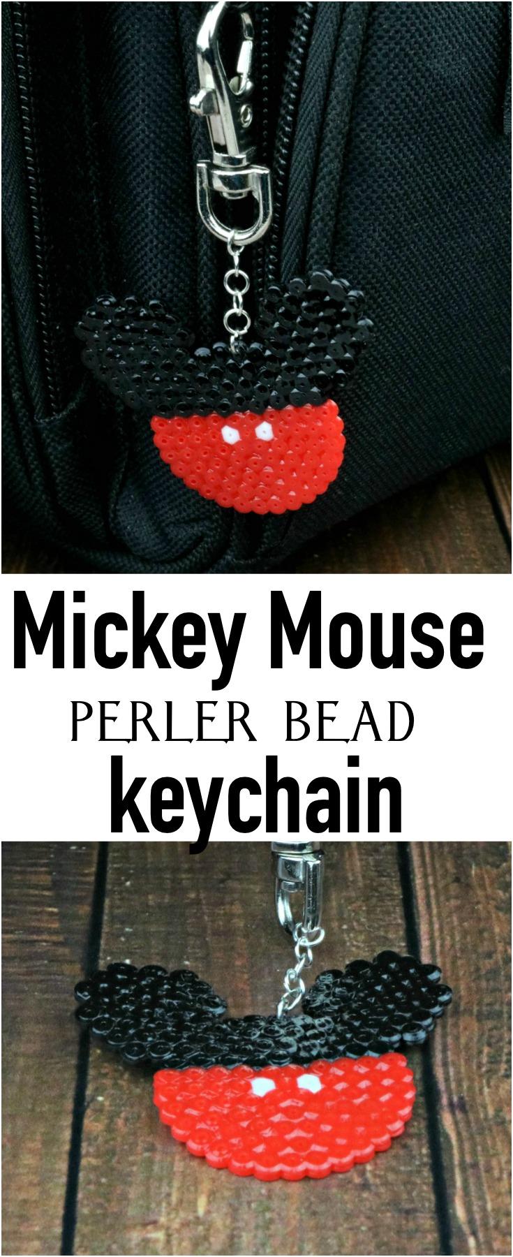 Perler Bead Mickey Mouse Keychain