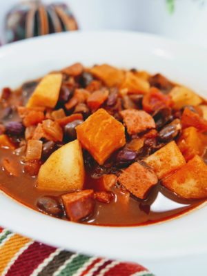 Sweet Potato, Apple and Turkey Chili