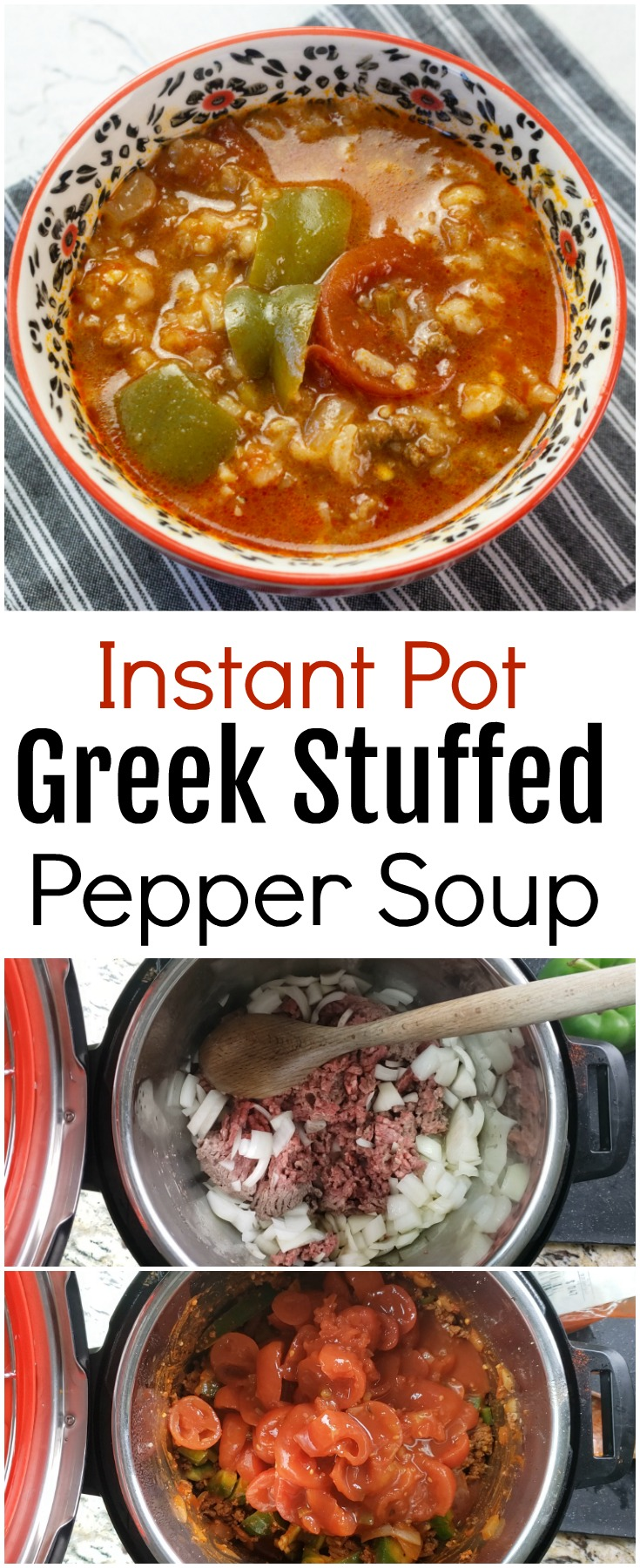 Instant Pot Greek Stuffed Pepper Soup