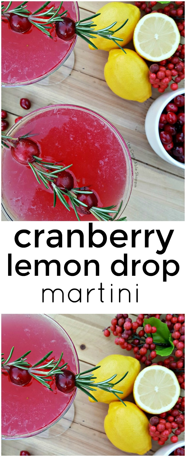 Cranberry Lemon Drop Martini