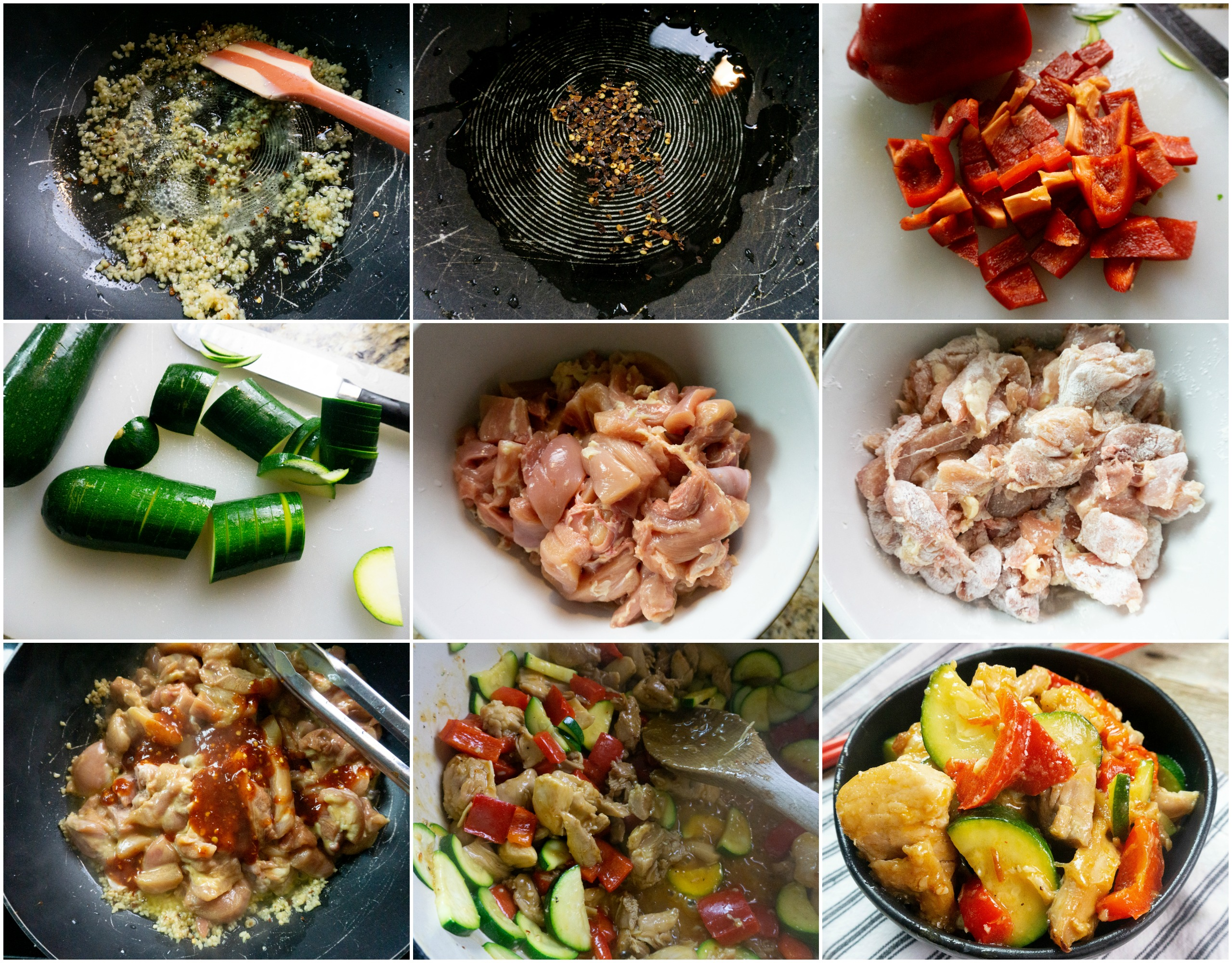 Kung Pao Chicken - Process Pictures