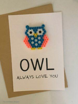 Owl Always Love You Perler Bead Card