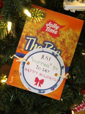 Popcorn Christmas Gift Tags