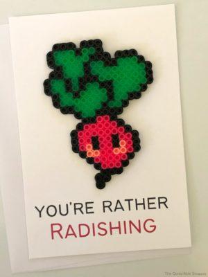 Radish Perler Bead Project + Printable Card