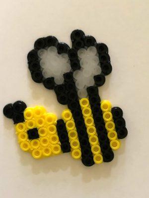 Bumble Bee Perler Bead + Printable Card