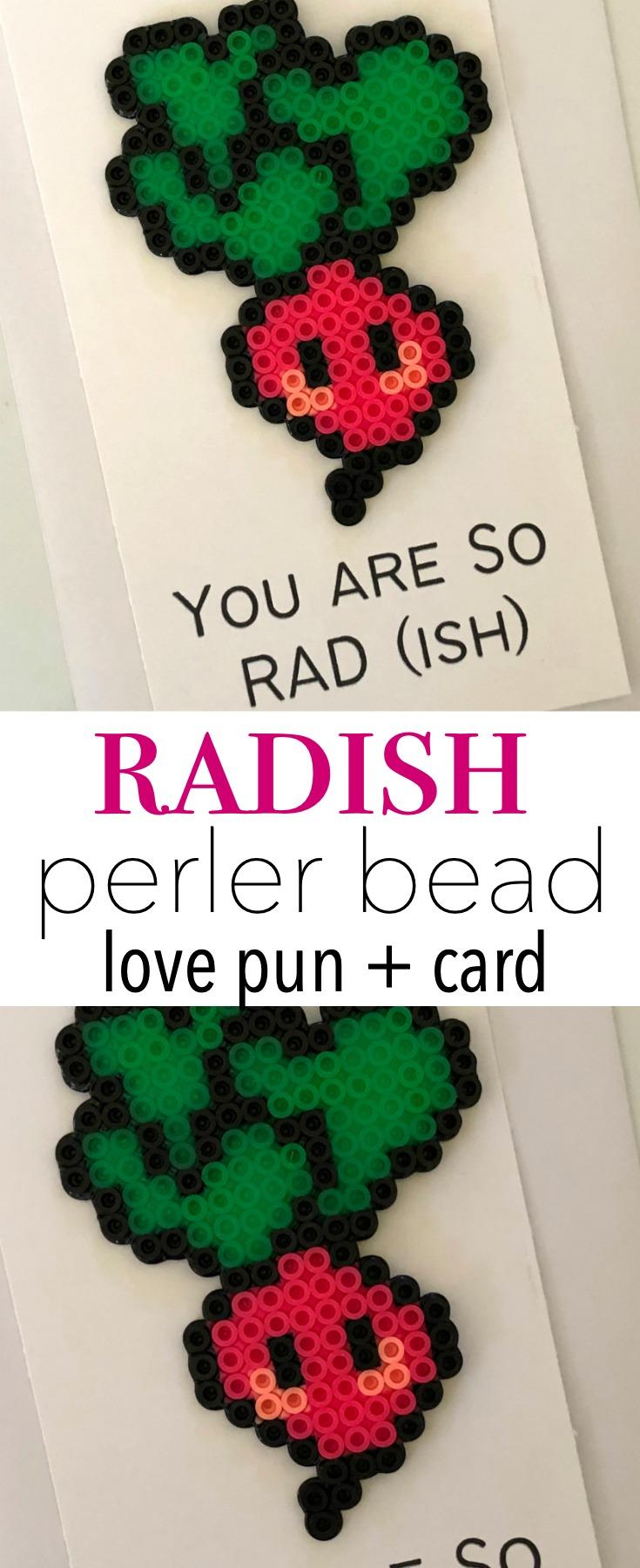 Radish Perler Bead