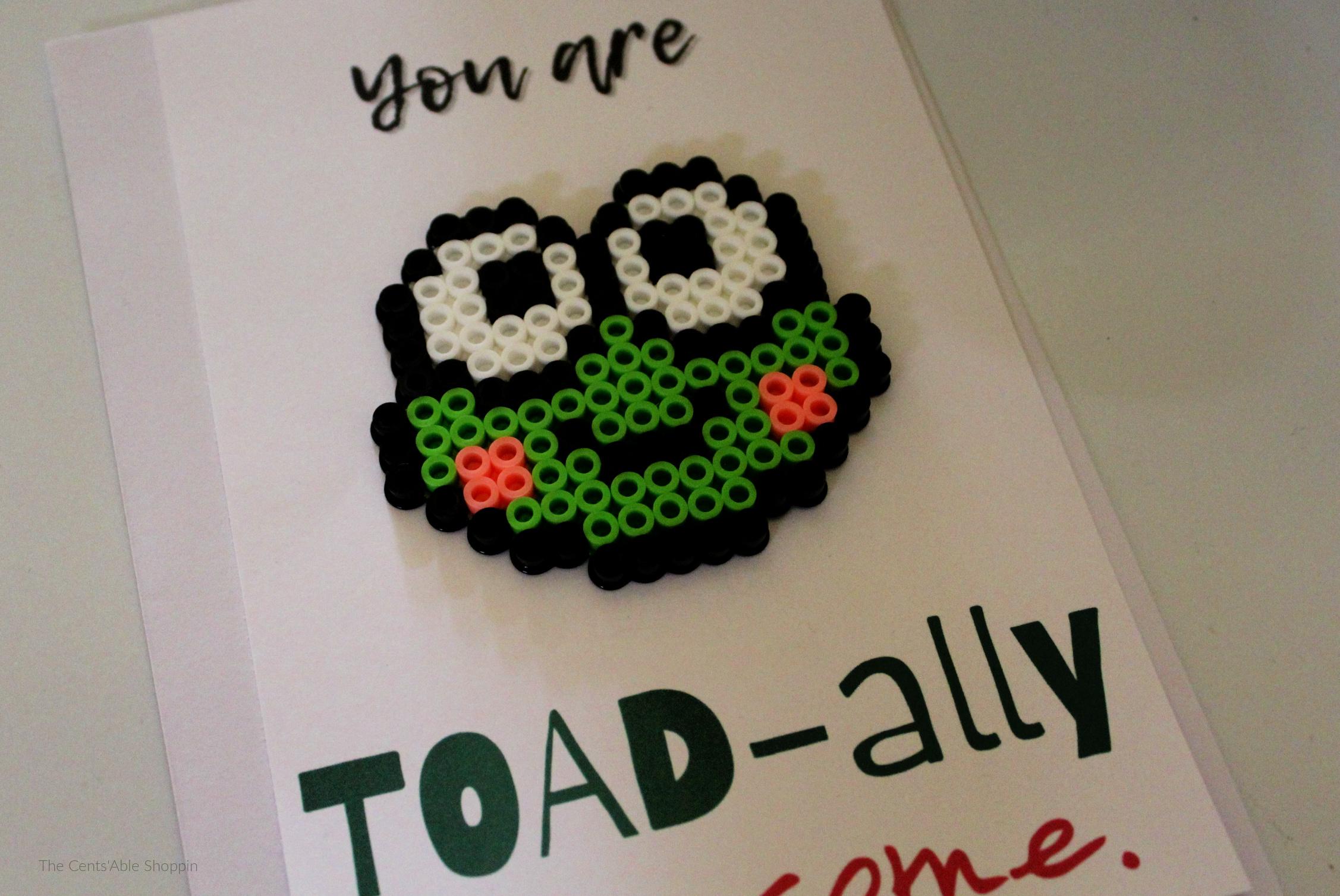 Toad Perler Bead Card