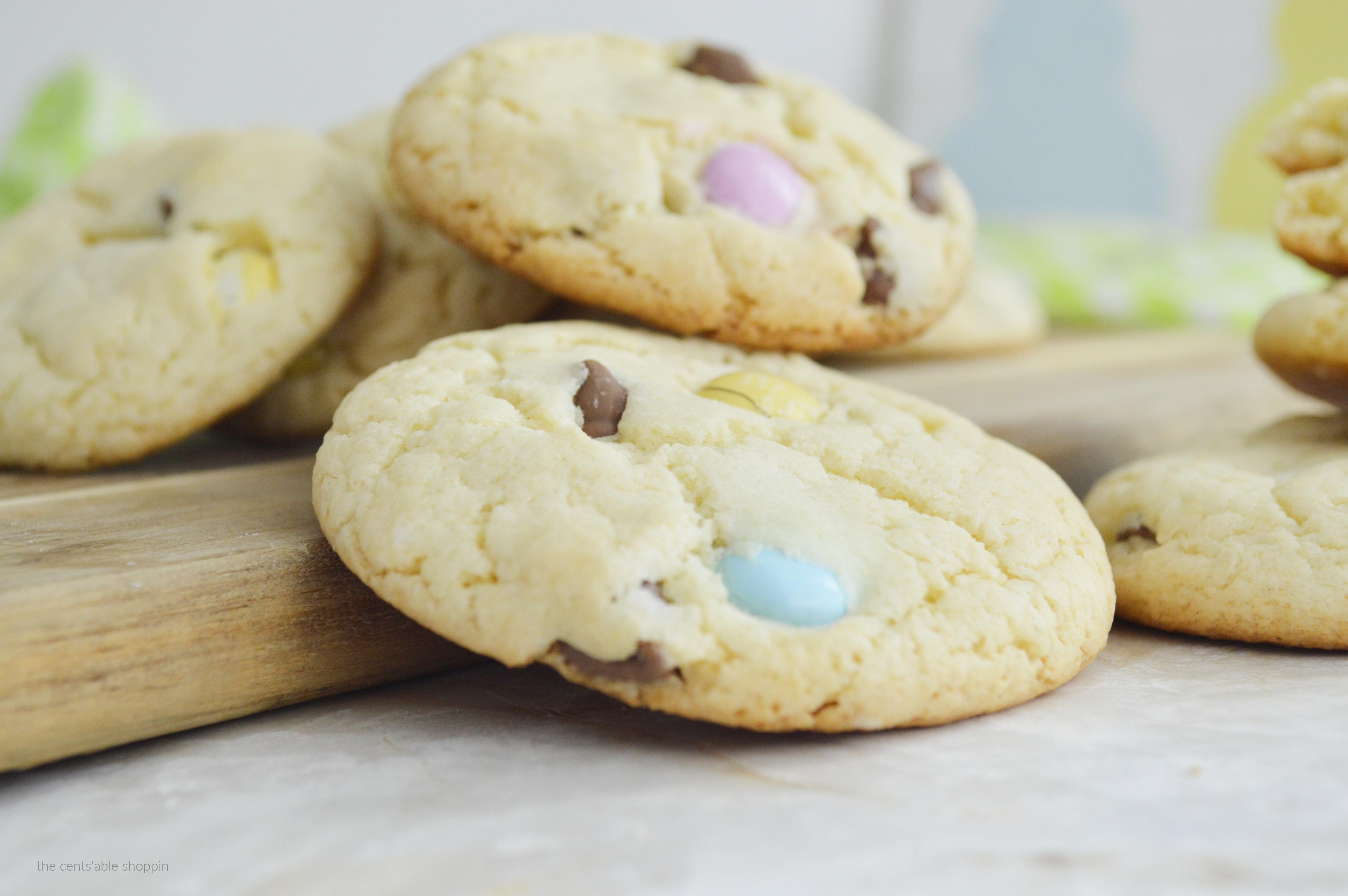 Spring Cake Mix Cookies
