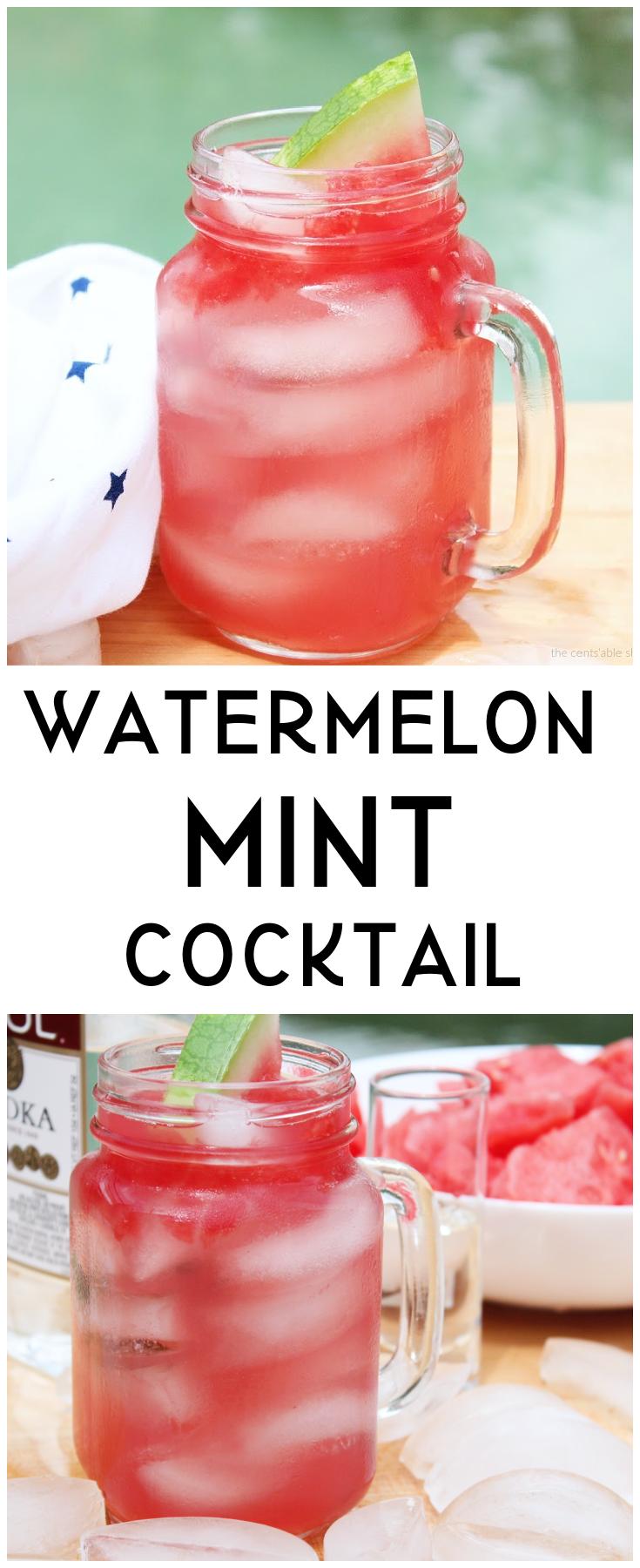Watermelon Mint Cocktail