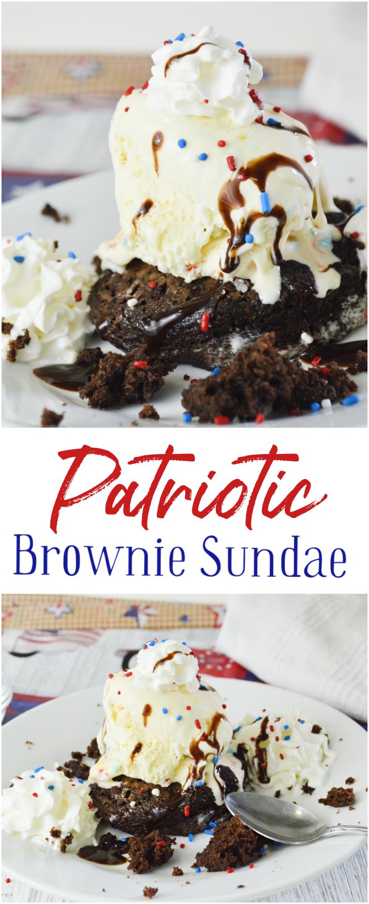 Patriotic Brownie Sundae